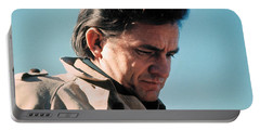 Portable Battery Charger featuring the photograph Johnny Cash  Music Homage Ballad Of Ira Hayes Old Tucson Arizona 1971 by David Lee Guss