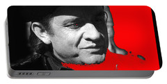 Portable Battery Charger featuring the photograph Johnny Cash Music Homage Ring Of Fire Old Tucson Arizona 1971 by David Lee Guss