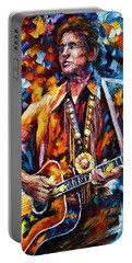 Johnny Cash New Portable Battery Charger by Leonid Afremov