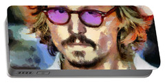 Johnny Depp Actor Portable Battery Charger by Georgi Dimitrov