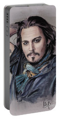 Johnny Depp Portable Battery Charger by Melanie D
