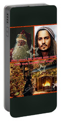 Johnny Depp Xmas Greeting Portable Battery Charger