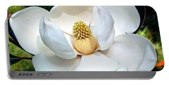 Portable Battery Charger featuring the photograph John's Magnolia by Barbara Chichester