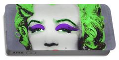 Joker Marilyn Portable Battery Charger by Filippo B