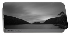 Jordan Pond Blue Hour Bw Portable Battery Charger