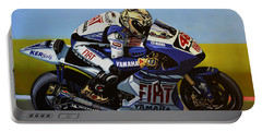 Jorge Lorenzo Portable Battery Charger by Paul Meijering