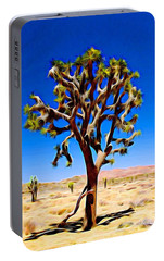 Portable Battery Charger featuring the photograph Joshua Tree Dark by Jeff Iverson