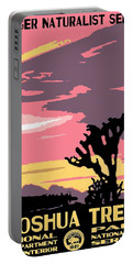 Joshua Tree National Park Vintage Poster Portable Battery Charger