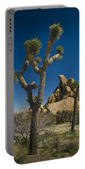 California Joshua Trees In Joshua Tree National Park By The Mojave Desert Portable Battery Charger