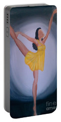 Portable Battery Charger featuring the painting Joy by Marisela Mungia