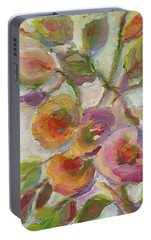 Portable Battery Charger featuring the painting Joy by Mary Wolf