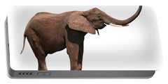 Joyful Elephant Isolated On White Portable Battery Charger