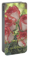 Joyful Gratitude Portable Battery Charger