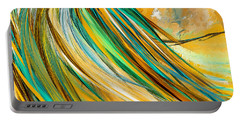 Joyous Soul- Yellow And Turquoise Artwork Portable Battery Charger
