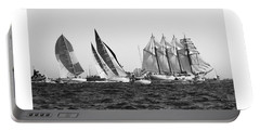 Portable Battery Charger featuring the photograph Juan Sebastian Elcano Departing The Port Of Cadiz by Pablo Avanzini