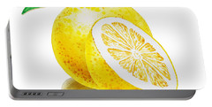 Portable Battery Charger featuring the painting Juicy Grapefruit by Irina Sztukowski