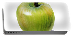 Portable Battery Charger featuring the painting Juicy Green Apple by Irina Sztukowski