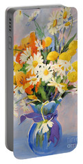 July Summer Arrangement  Portable Battery Charger by Kathy Braud