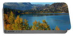 Portable Battery Charger featuring the photograph June Lake Blues And Golds by Lynn Bauer