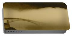 Juneau - Douglas Bridge Portable Battery Charger by Cathy Mahnke
