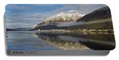 Juneau In Winter Portable Battery Charger by Cathy Mahnke