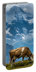 Jungfrau Cow - Grindelwald - Switzerland Portable Battery Charger