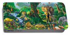 Jungle Harmony Portable Battery Charger by Chris Heitt