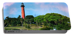 Jupiter Lighthouse Portable Battery Charger by Laura Fasulo