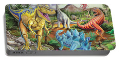 Jurassic Jubilee Portable Battery Charger by Mark Gregory
