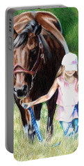 Just A Girl And Her Horse Portable Battery Charger
