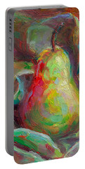 Just A Pear - Impressionist Still Life Portable Battery Charger