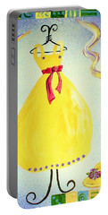 Portable Battery Charger featuring the painting Just A Simple Hat And Dress by Eloise Schneider
