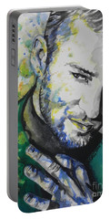 Justin Timberlake...01 Portable Battery Charger by Chrisann Ellis