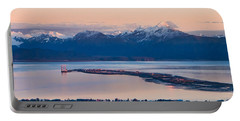 Kachemak Bay At Sunset Portable Battery Charger