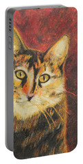 Portable Battery Charger featuring the painting Kaco by Jeanne Fischer