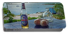 Kalik Beer Bottle At The Front Porch Portable Battery Charger