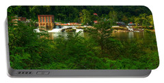 Portable Battery Charger featuring the photograph Kanawha Falls by Dave Files