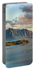 Kaneohe Bay Panorama Mural 2 Of 5 Portable Battery Charger