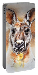 Kangaroo Big Red Portable Battery Charger by Sandra Phryce-Jones