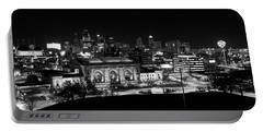 Kansas City In Black And White Portable Battery Charger
