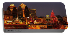 Kansas City Plaza Lights Portable Battery Charger by Catherine Sherman