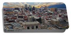 Kansas City Skyline Portable Battery Charger by Anthony Dezenzio