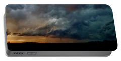 Kansas Tornado At Sunset Portable Battery Charger by Ed Sweeney
