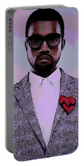 Kanye West Poster Portable Battery Charger