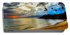 Kapalua Bay Sunset Portable Battery Charger by Kelly Wade