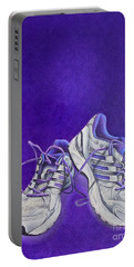Karen's Shoes Portable Battery Charger by Pamela Clements
