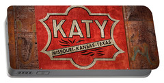 Katy Railroad Sign Dsc02853 Portable Battery Charger by Greg Kluempers