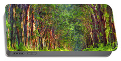 Kauai Tree Tunnel Portable Battery Charger by Dominic Piperata