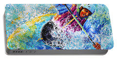 Portable Battery Charger featuring the painting Kayak Crush by Hanne Lore Koehler