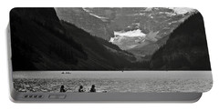 Kayak On Lake Louise Portable Battery Charger by RicardMN Photography